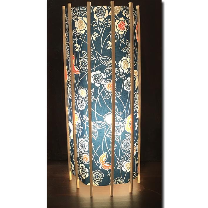 abat jour japonais en papier washi bleu. Black Bedroom Furniture Sets. Home Design Ideas