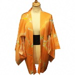 VESTE HAORI SOIE ORANGE