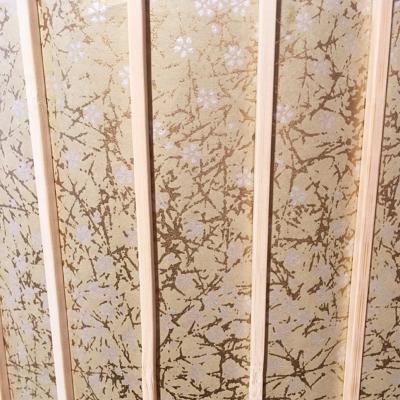 abat jour en papier washi or et fleurs blanches. Black Bedroom Furniture Sets. Home Design Ideas